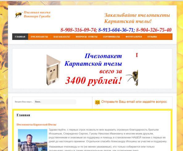 скрин обложка сайта pchela-omsk.ru