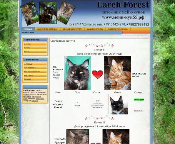 сайт larchforest.ru