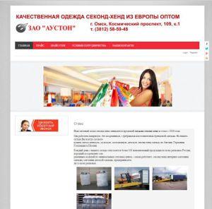 дизайн разработанного сайта torg.auston.ru